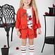 A Dee ADee Azalea Poppy Red Textured Fleece Shorts