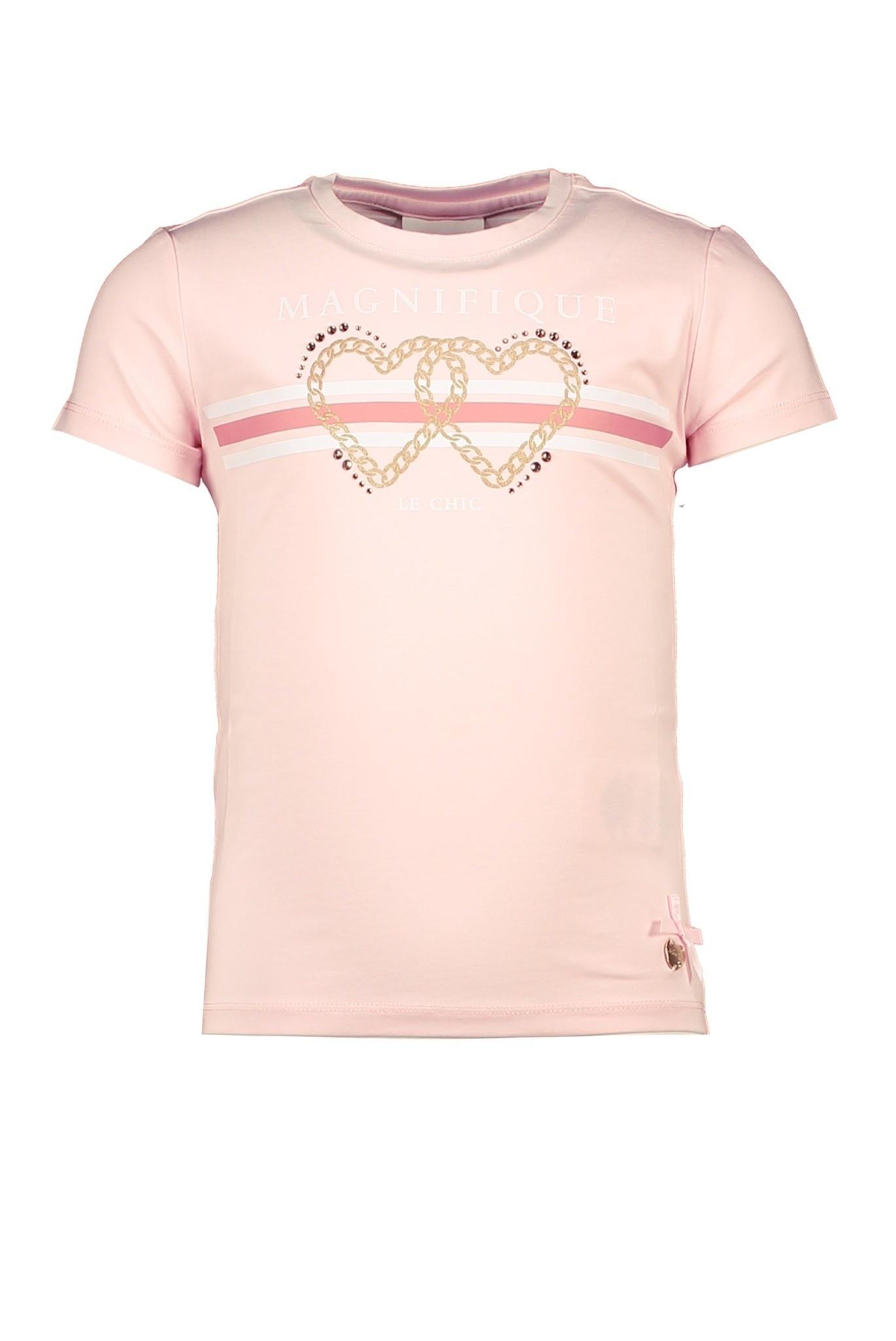 Lechic LeChic Pink Chain Heart T-Shirt