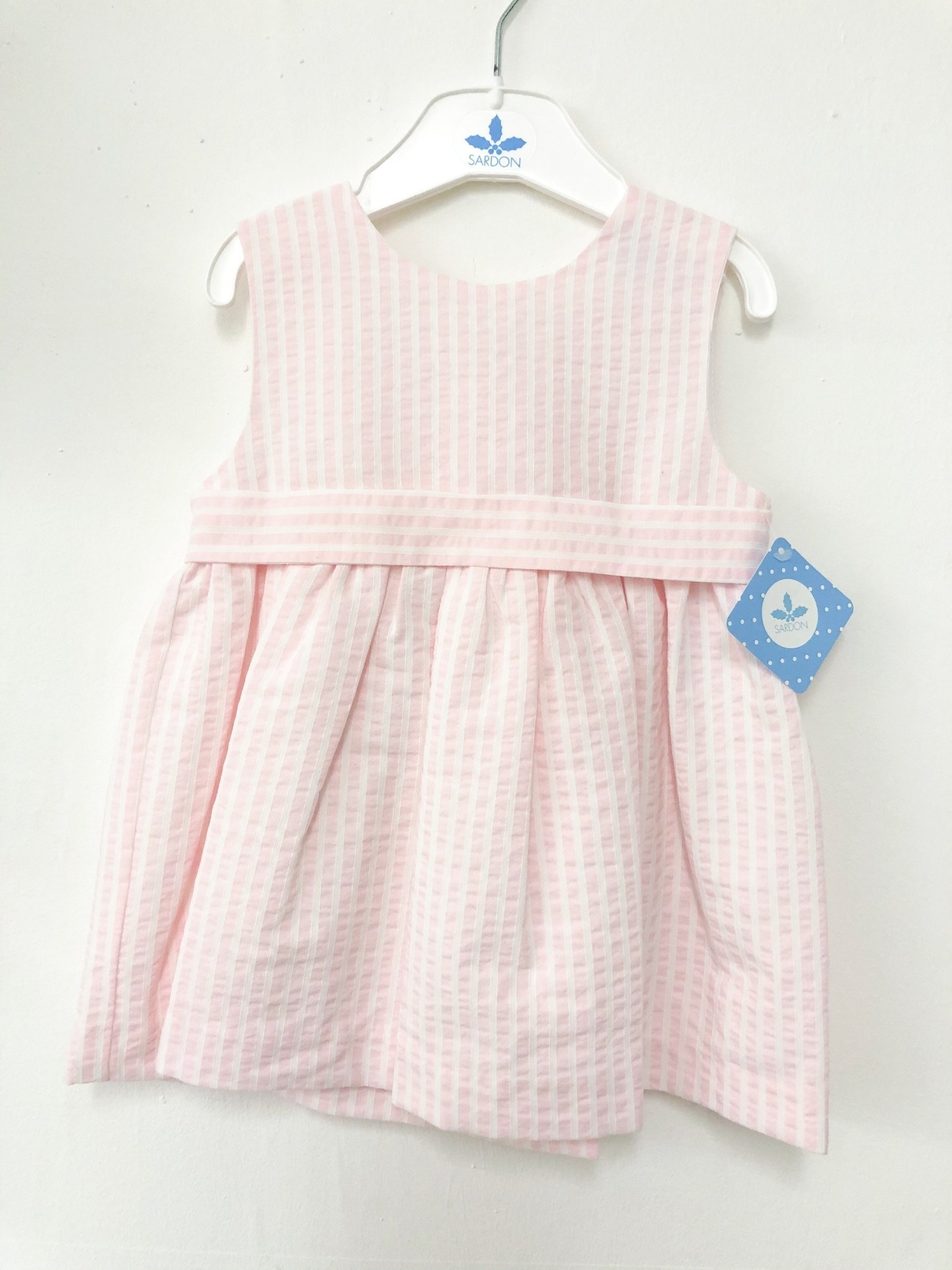 Sardon Sardon 20AB-15 Pink/White Stripe Dress