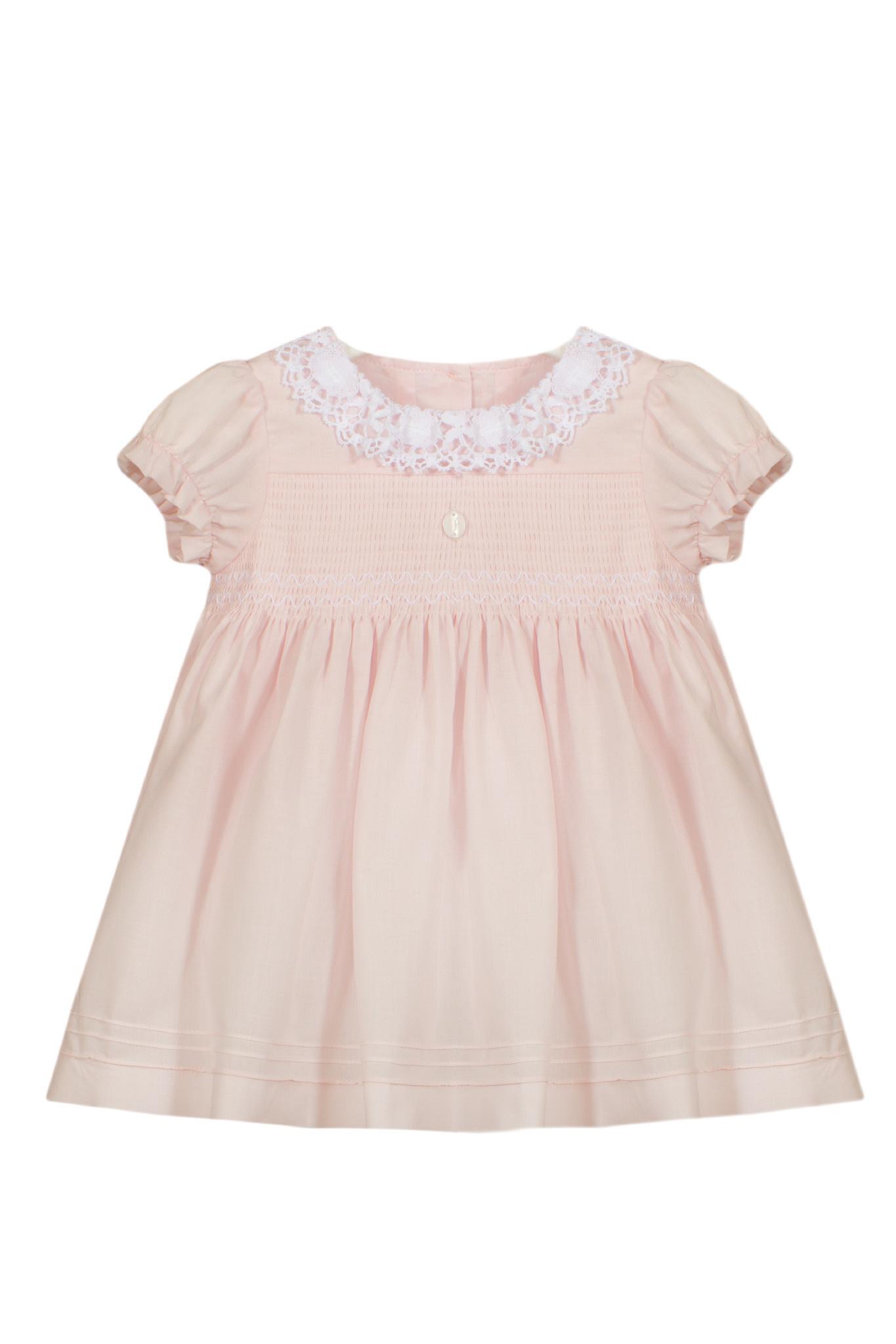 Patachou Patachou Baby 043 Smocked Pink Dress