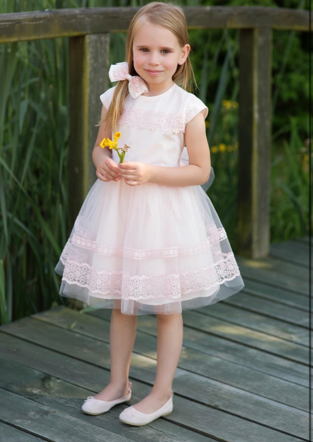 Daga Daga Pink Dress with Daisy Macrame Flower Detail