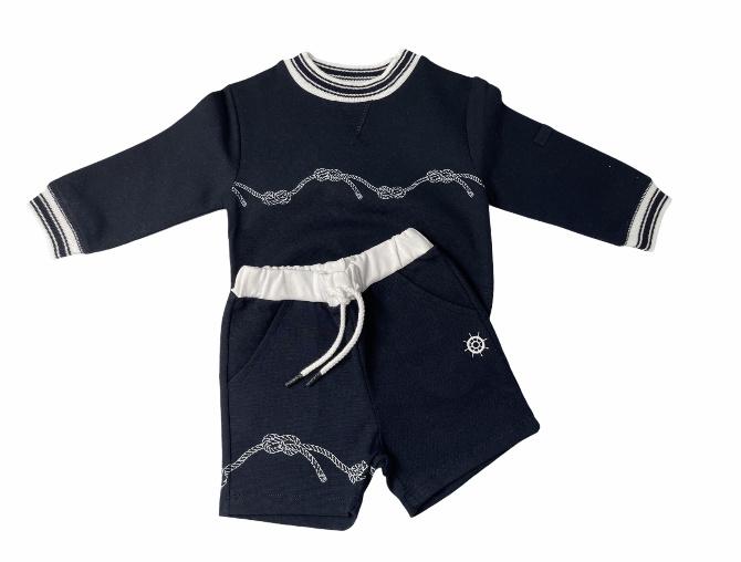 Patachou Patachou Boys Rope Sweater Short Set 3351 S21