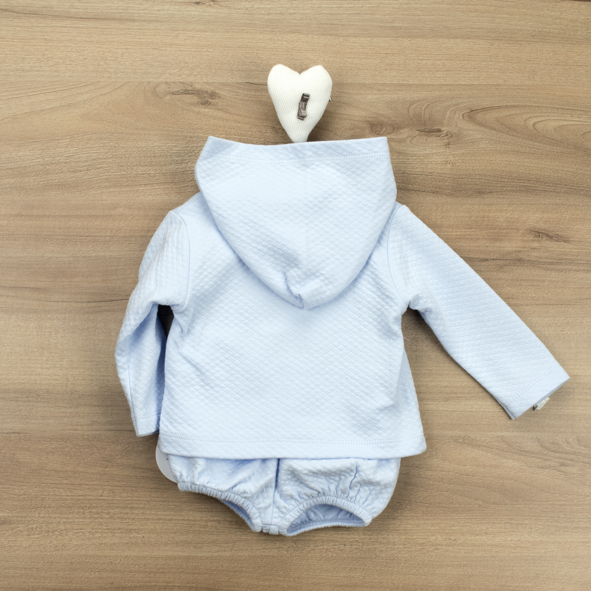 Babidu Babidu Blue Hooded Boys Shorts Set - 42190