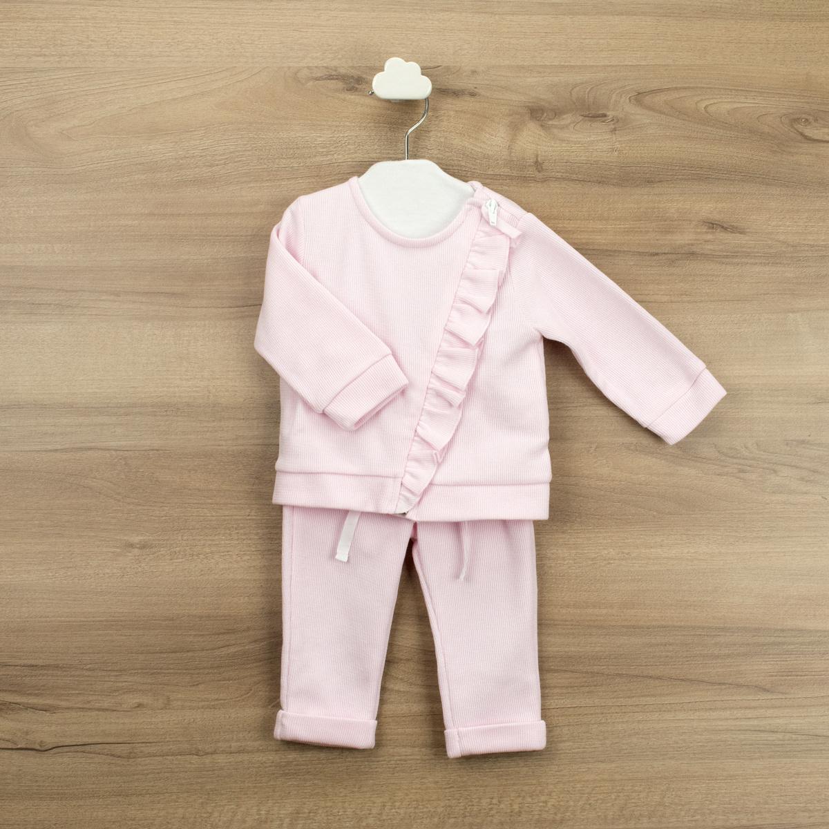 Babidu Babidu Pink Ruffle Tracksuit - 65365