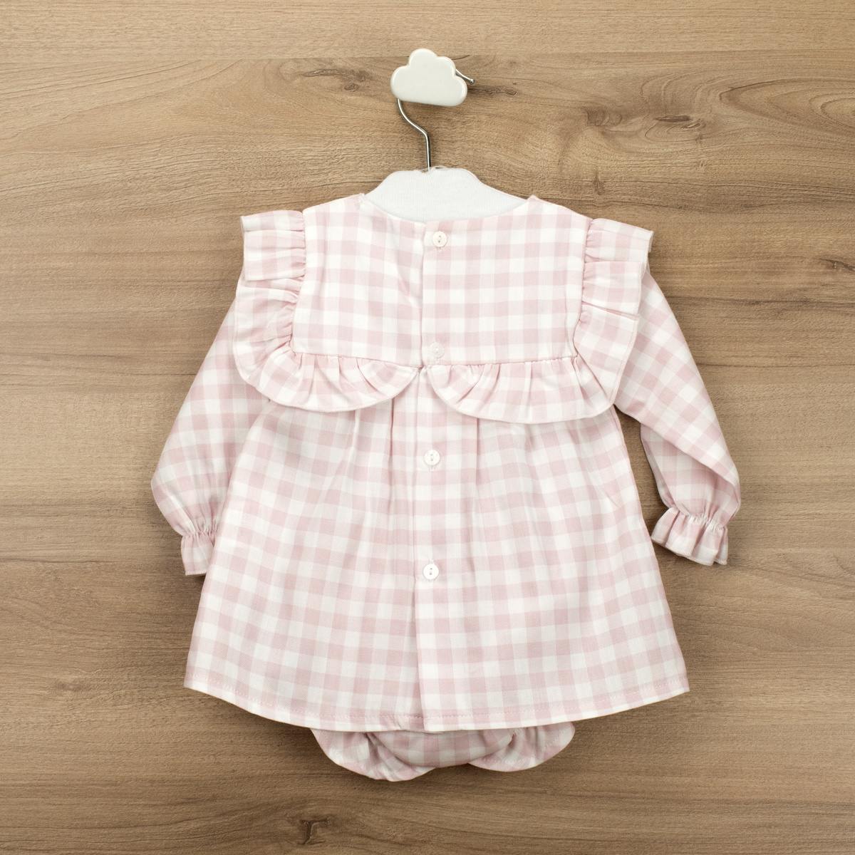 Babidu Babidu Girls Pink Gingham 2 Piece - 40354