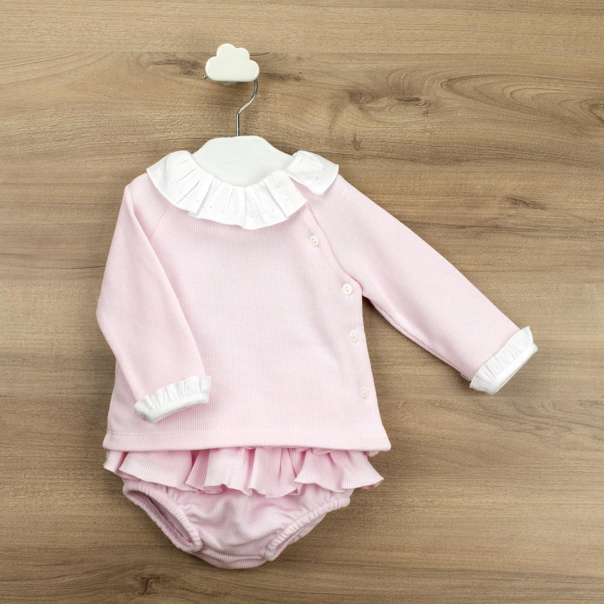 Babidu Babidu Girls Pink Knitted 2 Piece - 42365