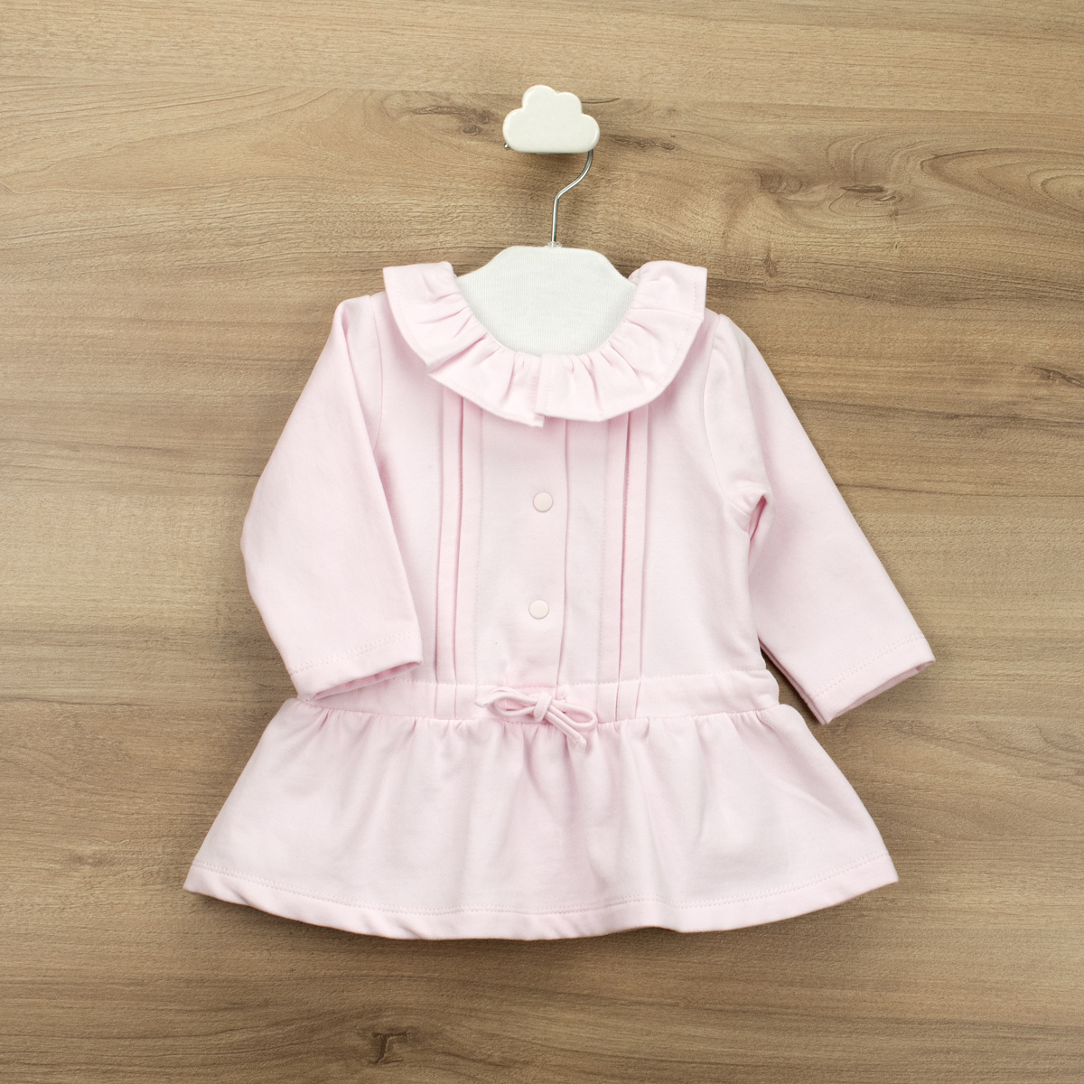 Babidu Babidu Girls Pink Frill Drawstring Dress - 91390