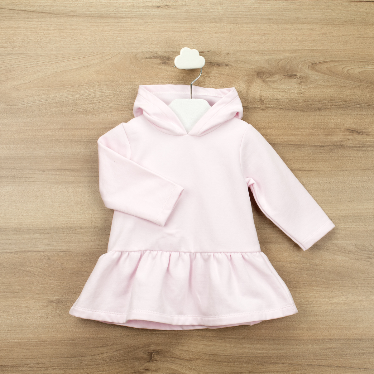 Babidu Babidu Girls Pink Hooded Dress - 90390