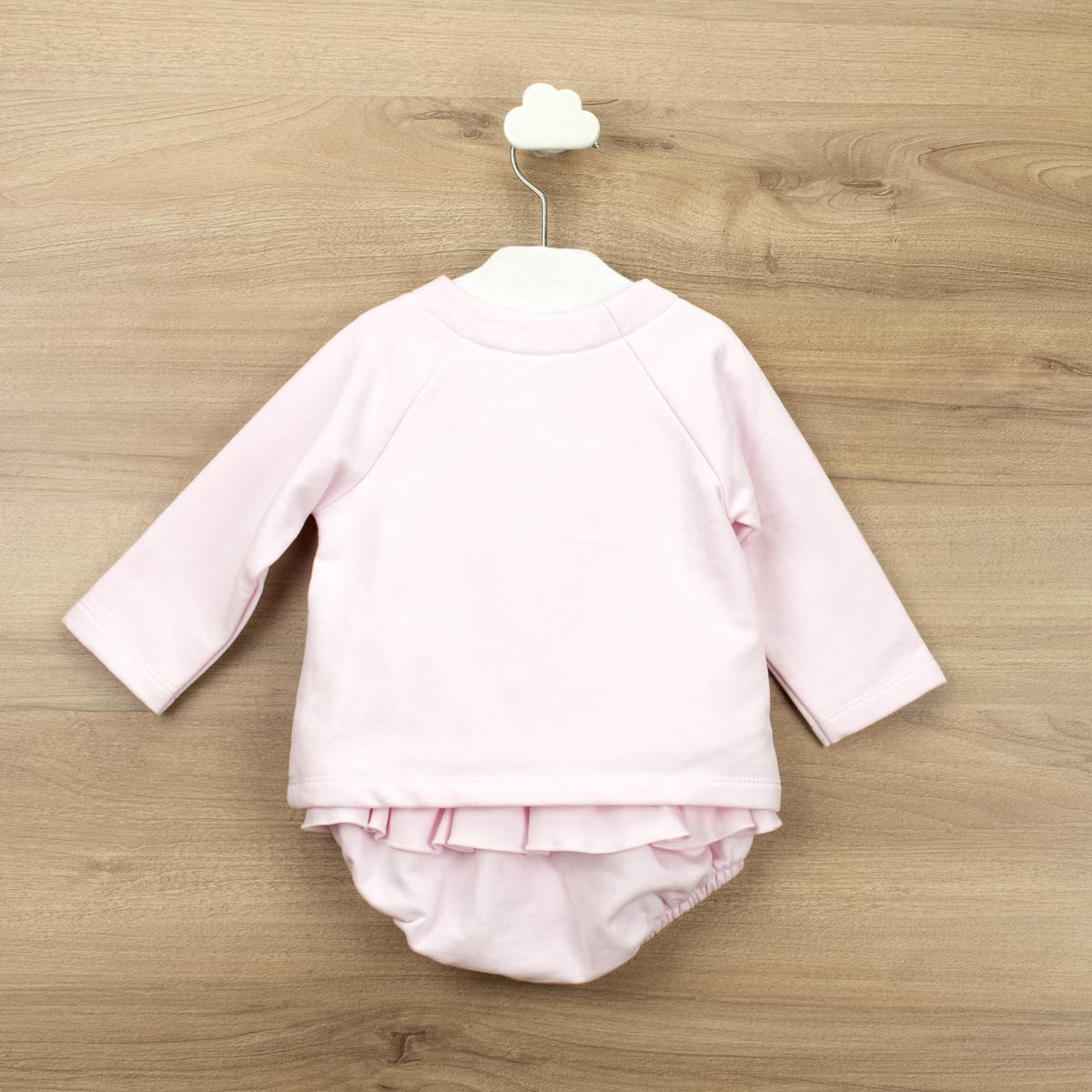 Babidu Babidu Girls Pink Ruffle Pant Set - 42390