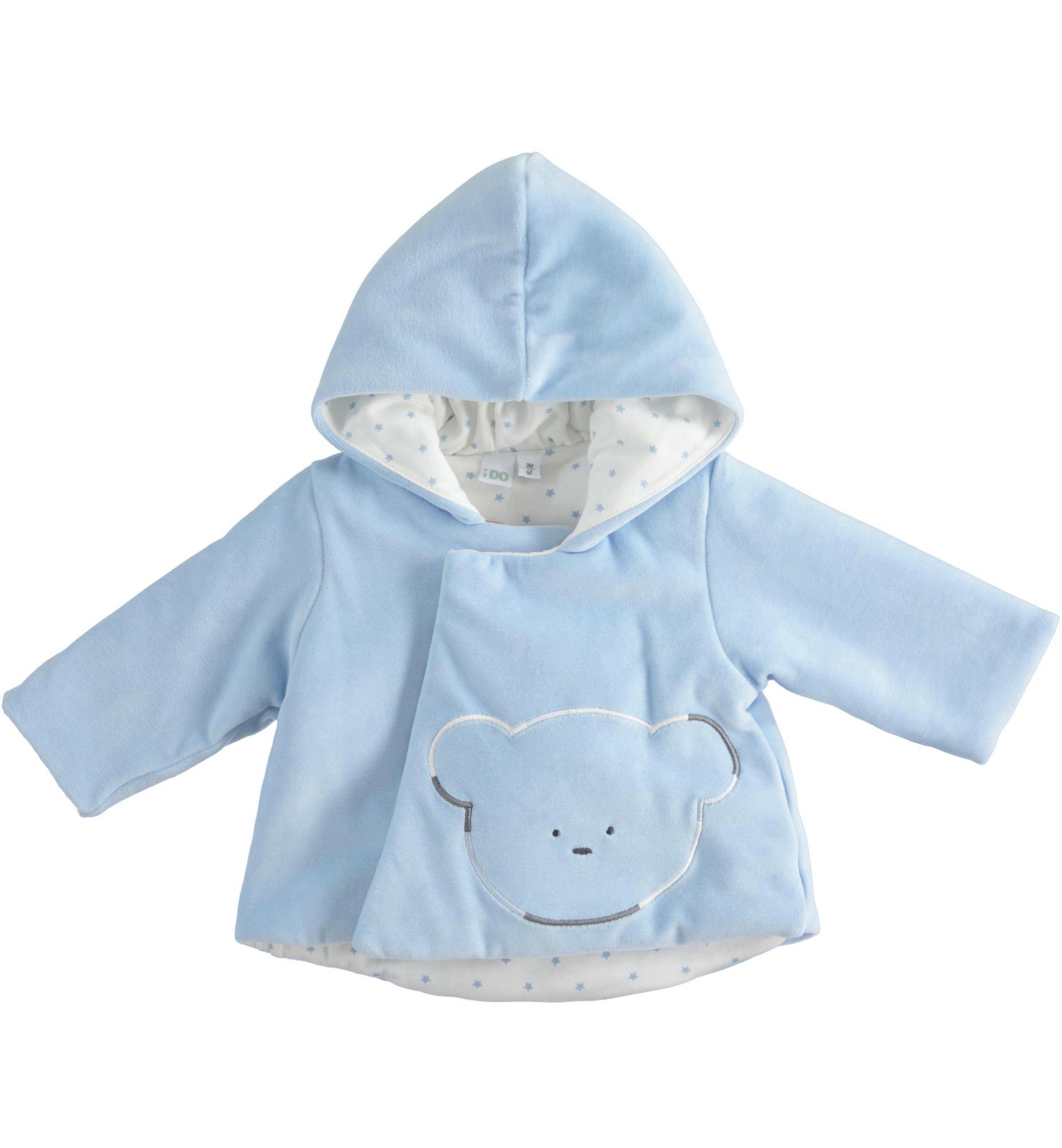 Ido iDO Blue Velour Bear Jacket - 43298
