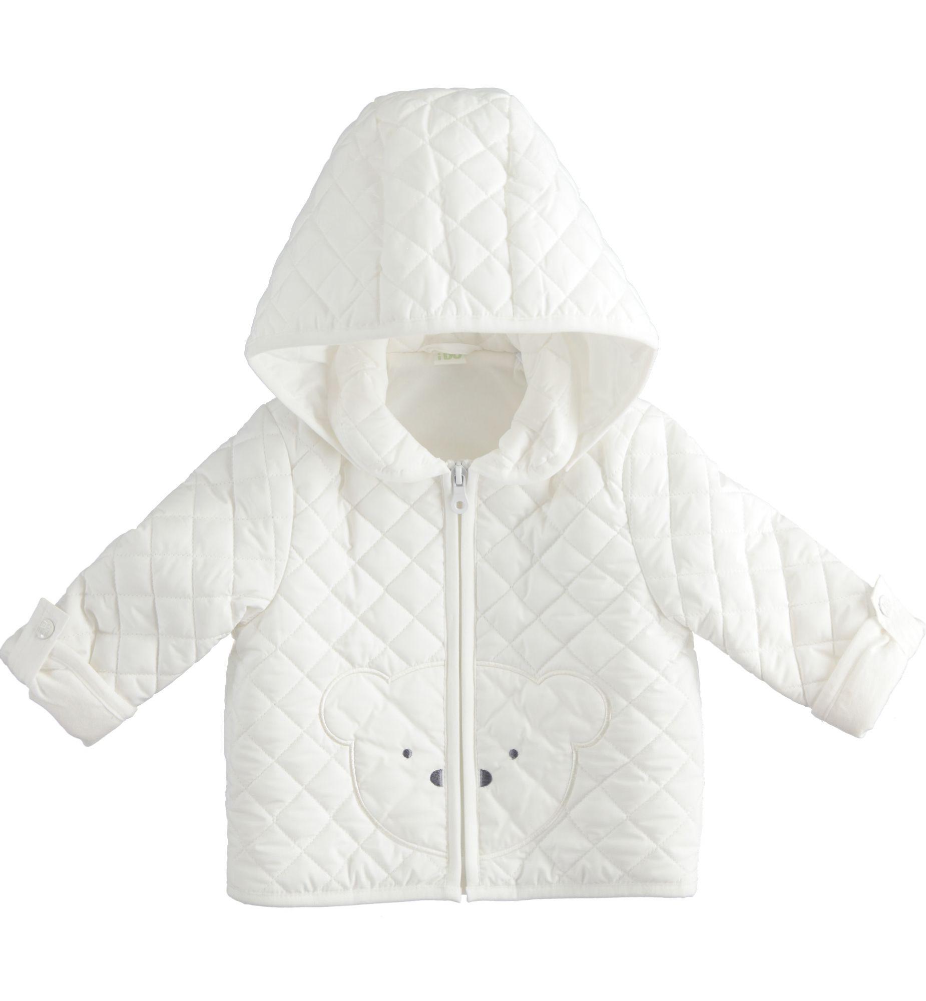 Ido iDO White Padded Bear Jacket - 43299