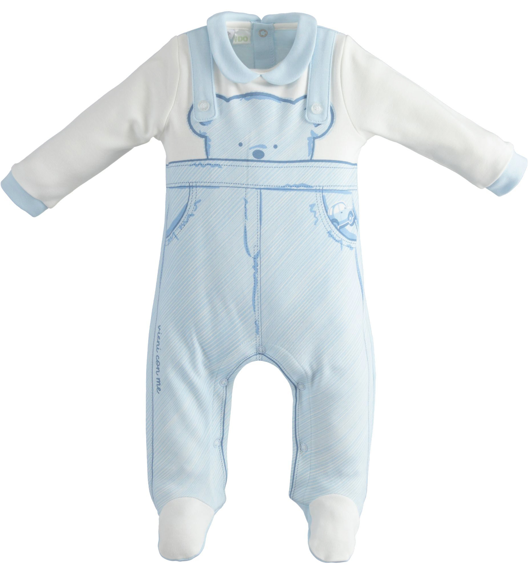Ido iDO Boys Blue and White Bear Babygrow - 43162