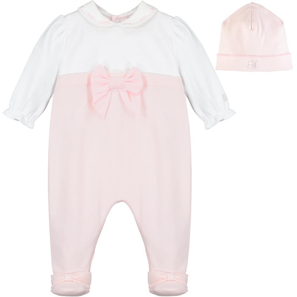 Emile et Rose Emile et Rose Anna Baby Girls Babygrow & Hat