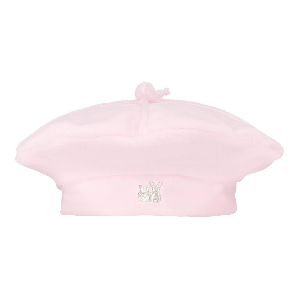 Emile et Rose Emile et Rose Rosanna Pink Velour Girls Coat & Hat Set