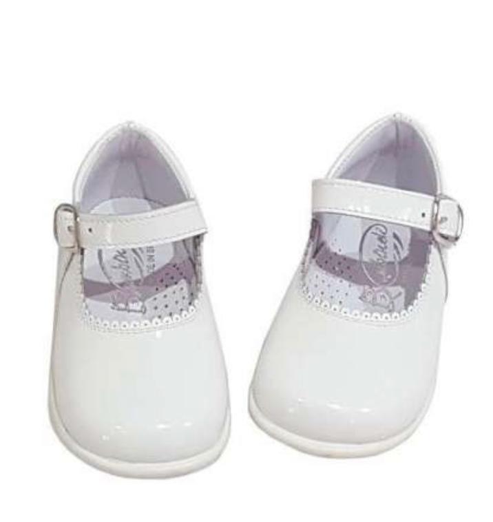 Bambi Mary Jane White Patent Shoe