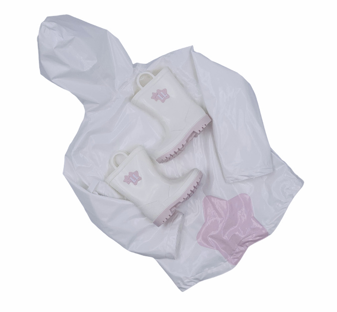 Little Lads & Ladies Little Lads & Ladies Star Raincoat - Summer