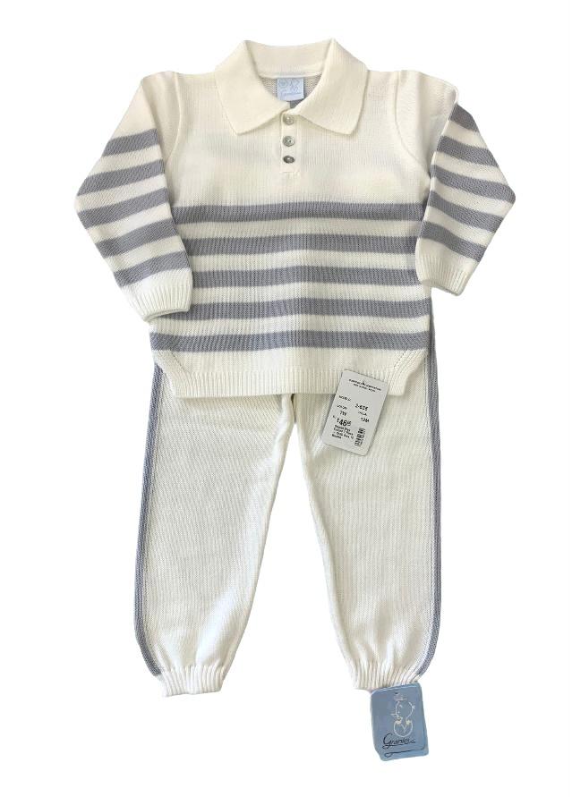 Granlei Granlei Grey Knitted 2 Piece - 2635