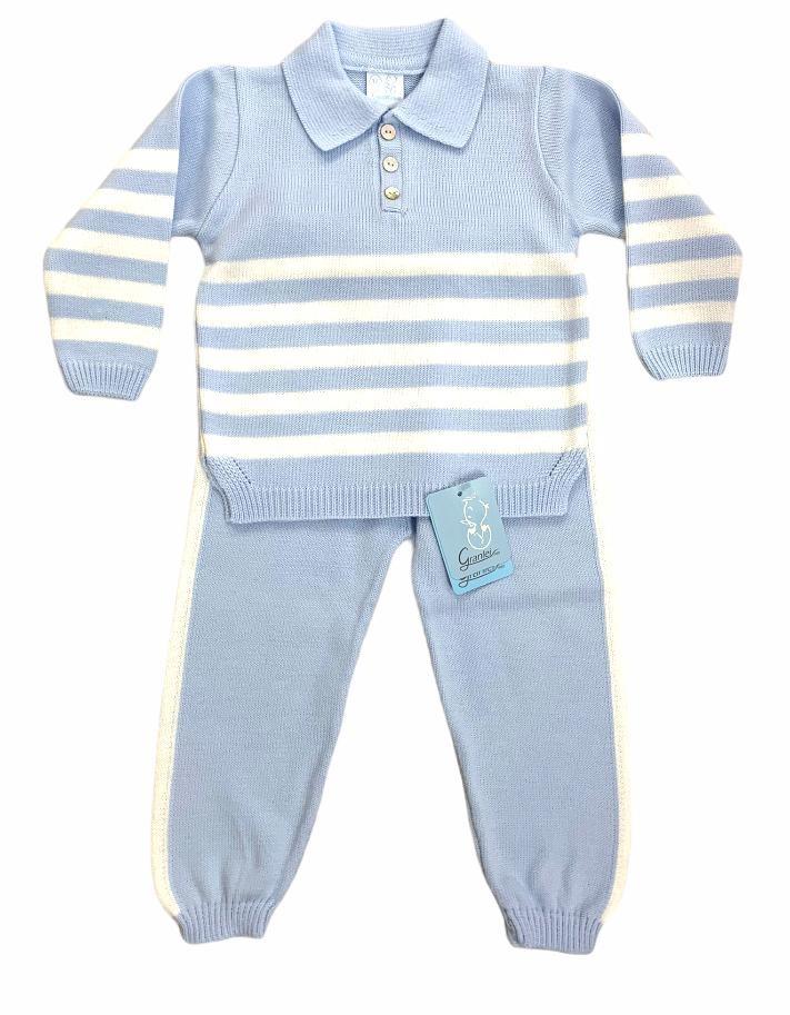 Granlei Granlei Blue Knitted Two Piece - 2635