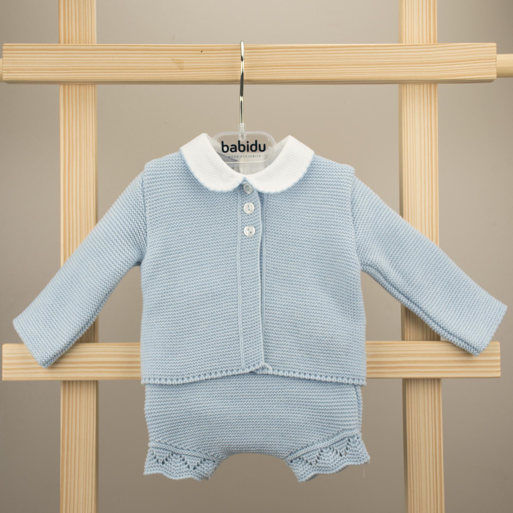 Babidu Babidu Blue Knitted 3 Piece Set - 40164