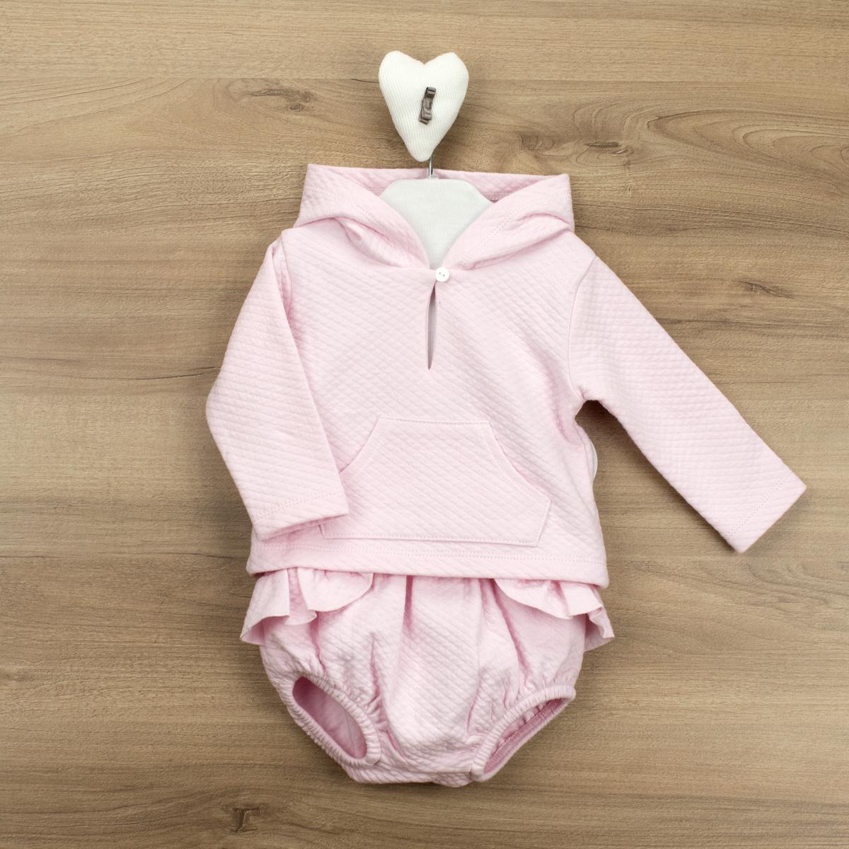 Babidu Babidu Pink Hooded 2 Piece - 43190