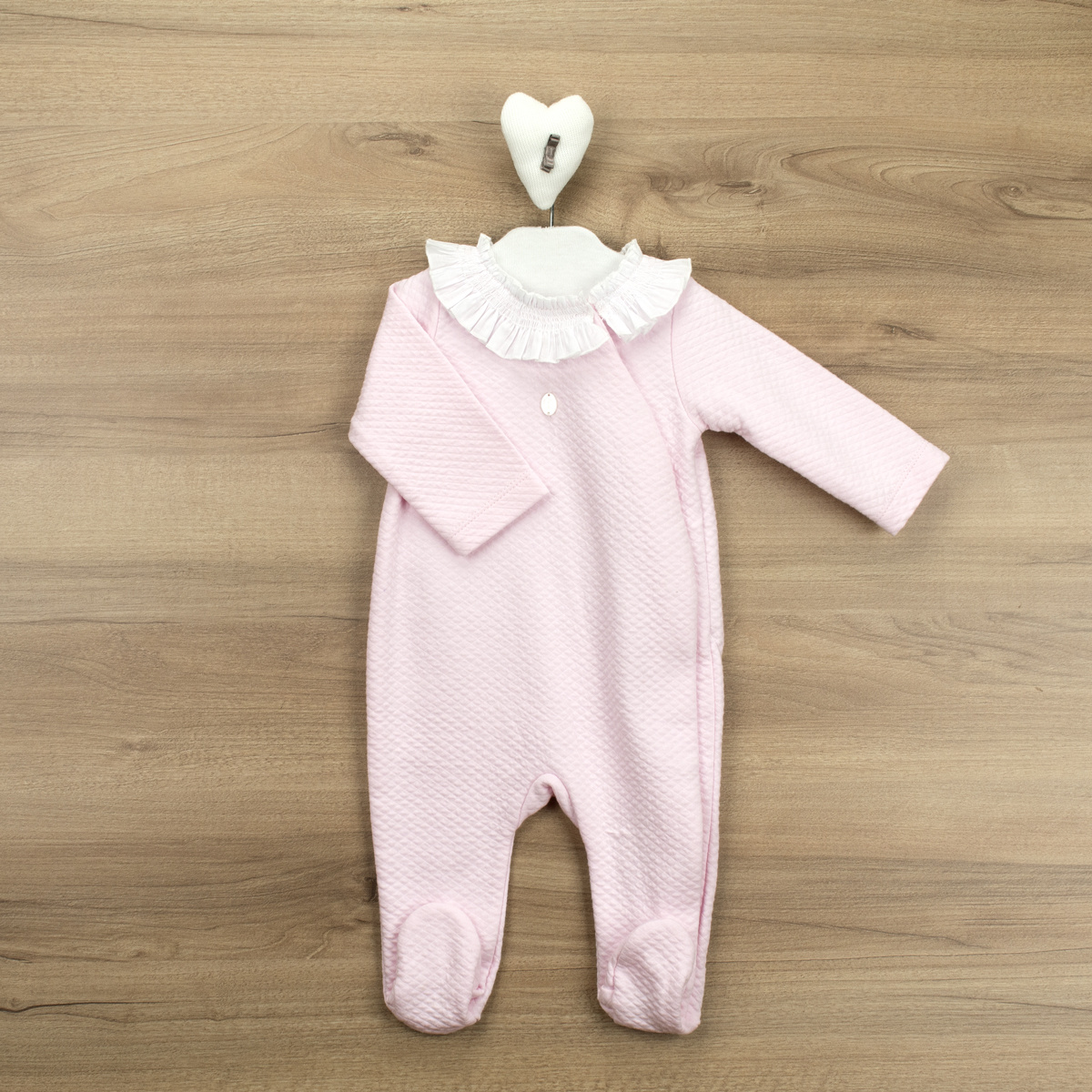 Babidu Babidu Pink Frill Babygrow - 10190