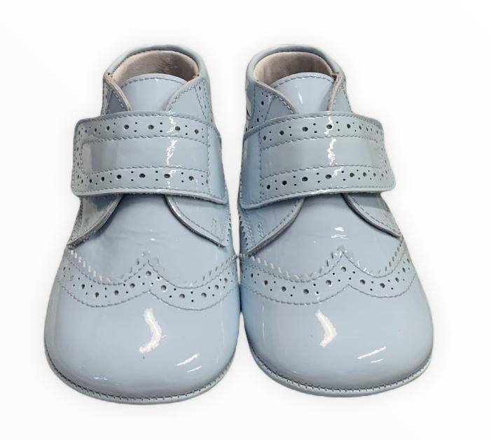 Andanines Andanines Blue Patent Pram Boots