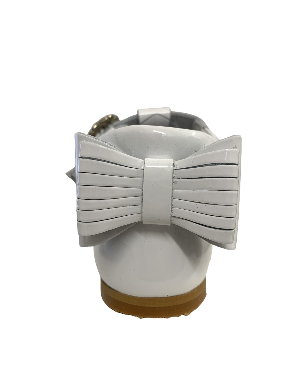 Andanines Andanines 202832 White Patent Bow Shoe