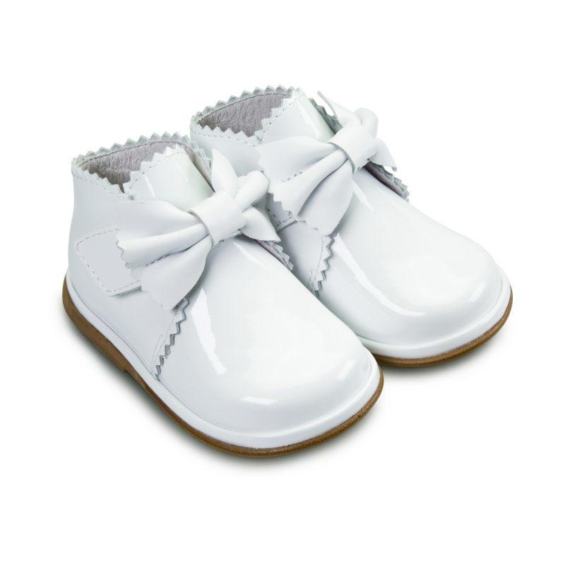 Borboleta Borboleta Sharon White Patent Boot - 1122