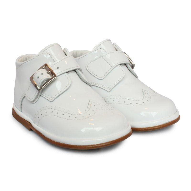 Borboleta Borboleta Chico White Patent Boots - 1165A