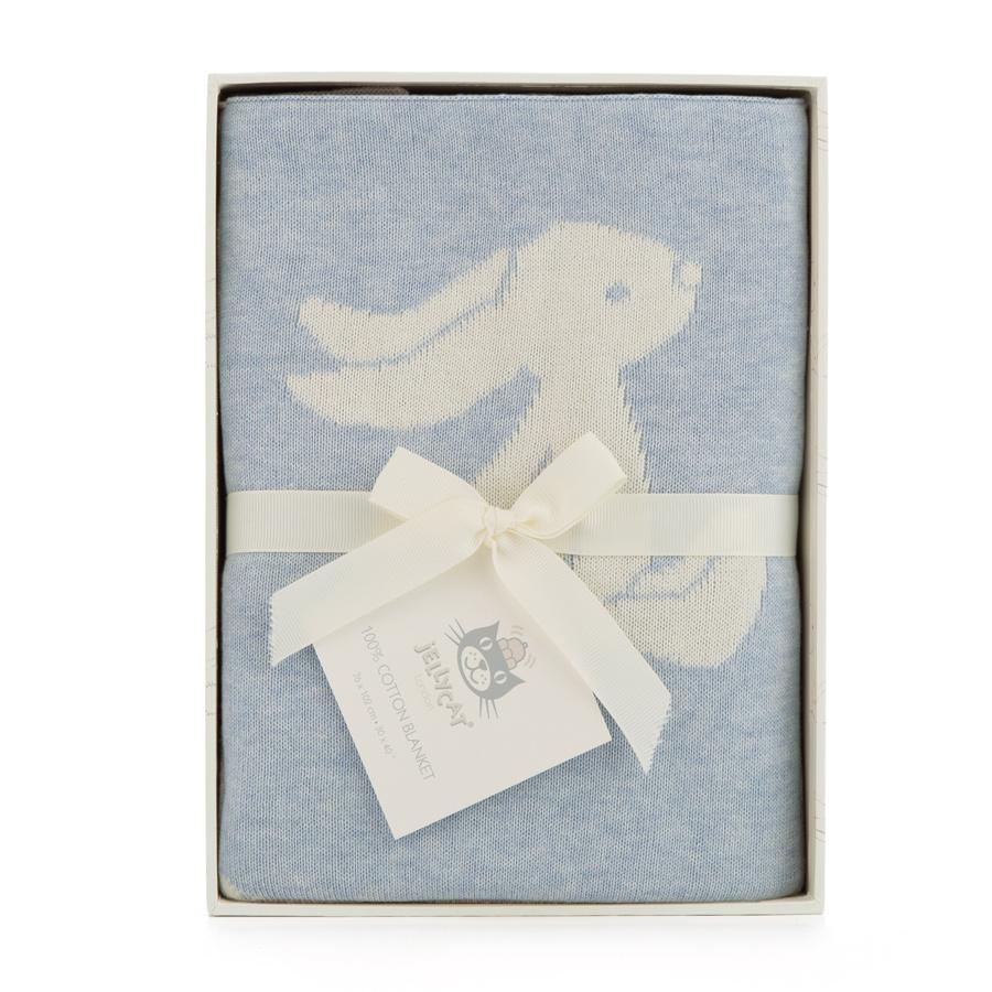 Jelly Cat Jellycat Bashful Blue Bunny Blanket