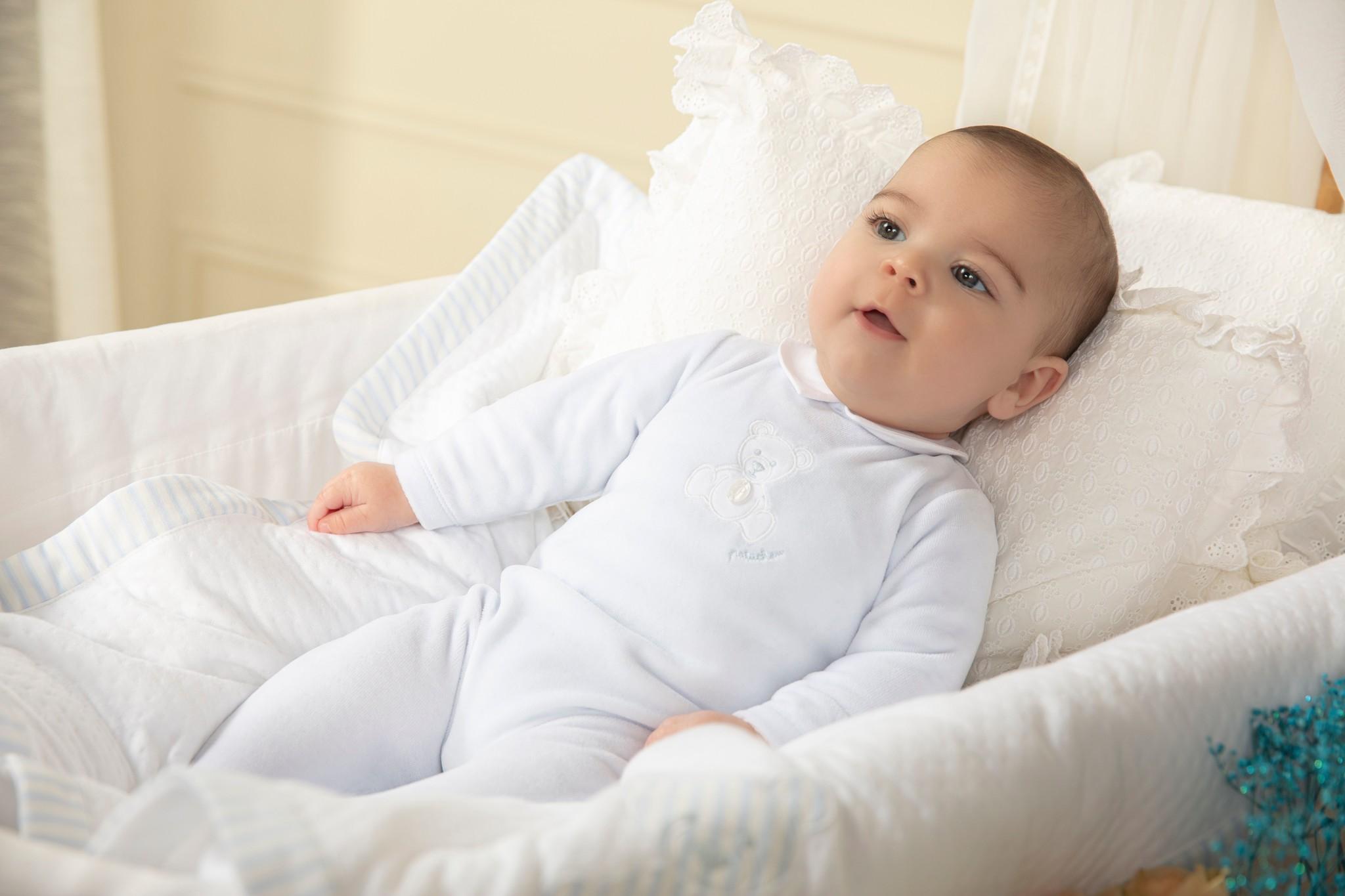 Patachou Patachou Boys Velour Babygrow - 3070 AW21
