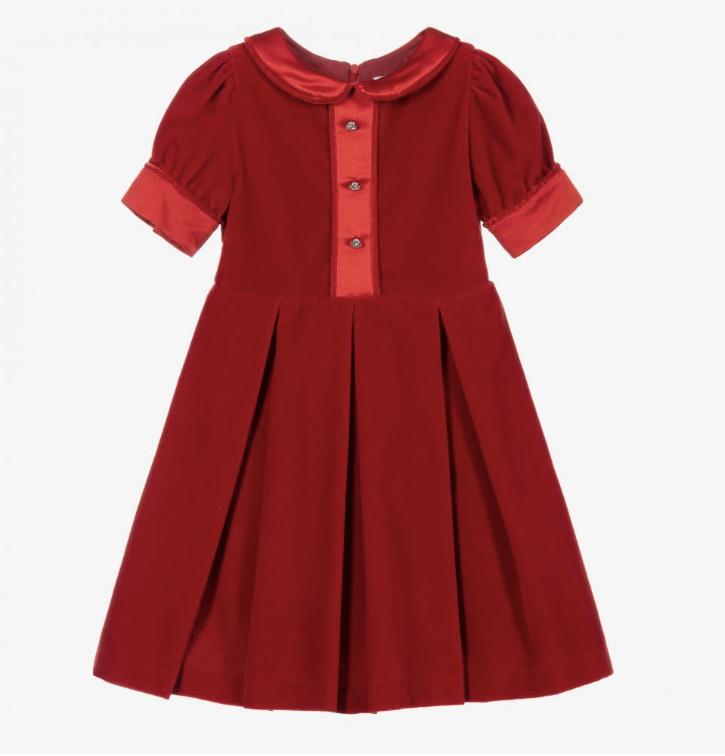 Patachou Patachou Girls Red Velvet Dress - 3545