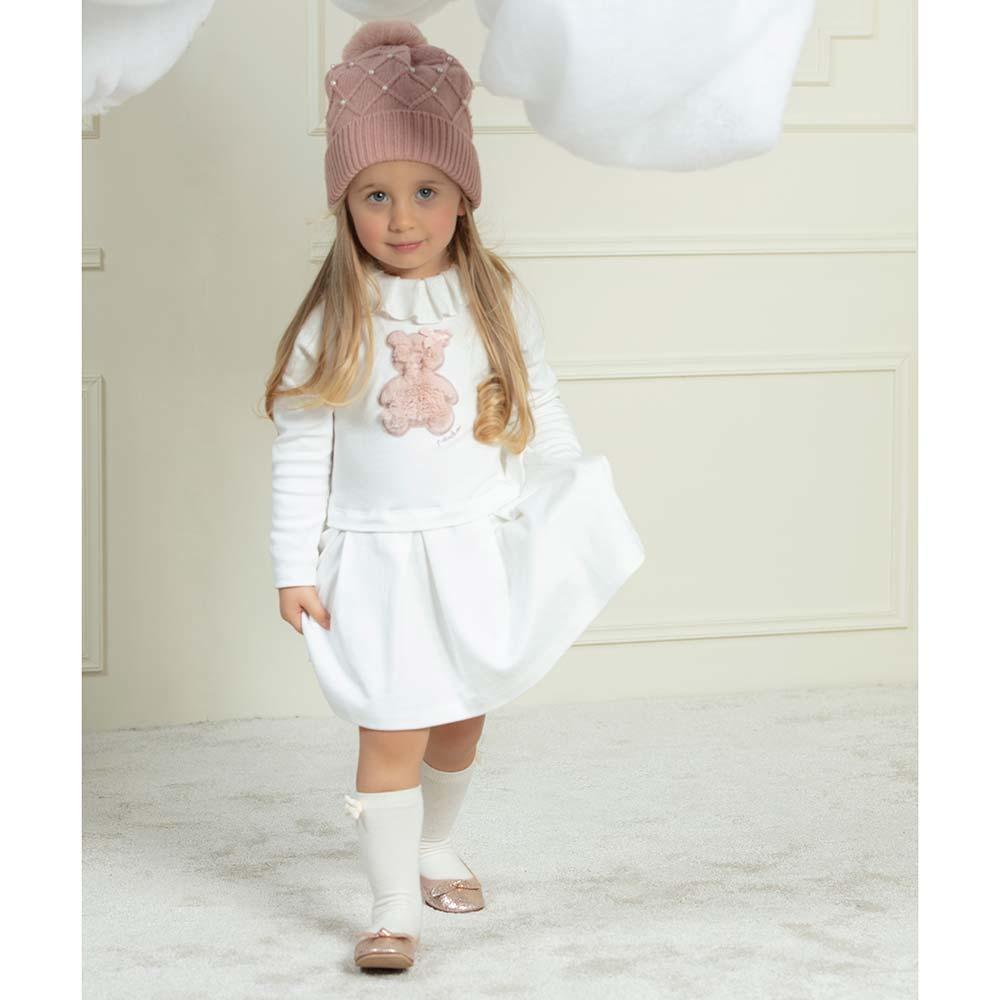 Patachou Patachou Girls Teddy Dress 3209 AW21