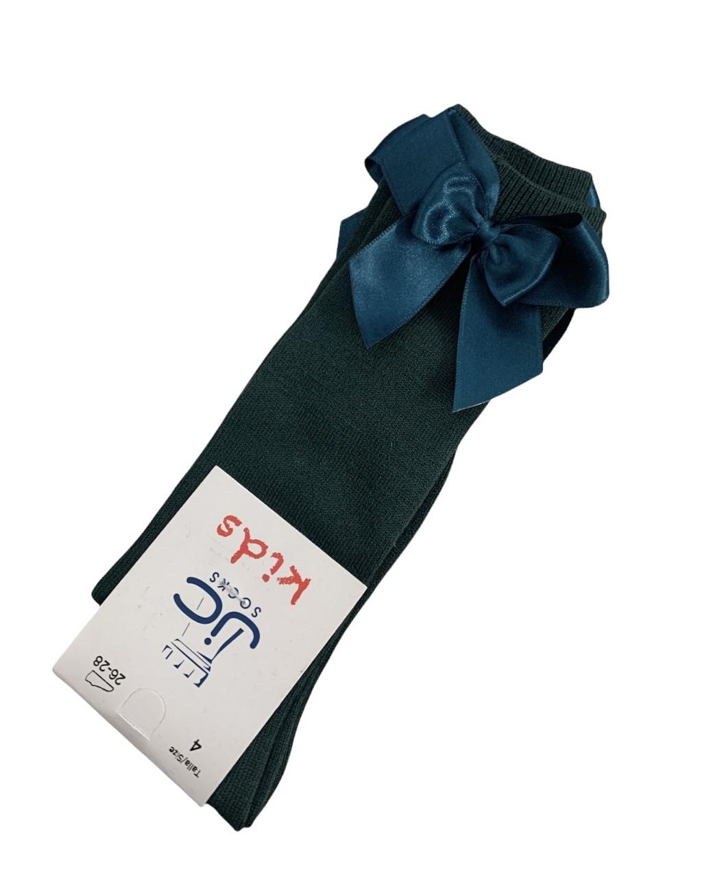 JC Socks JC 52803 Green Double Bow Sock