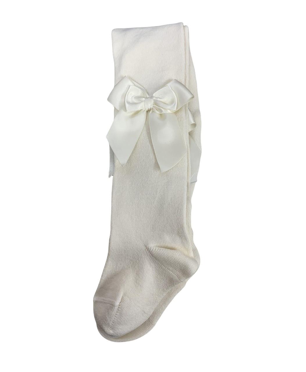 JC Socks JC 47300 Cream Double Bow Tight