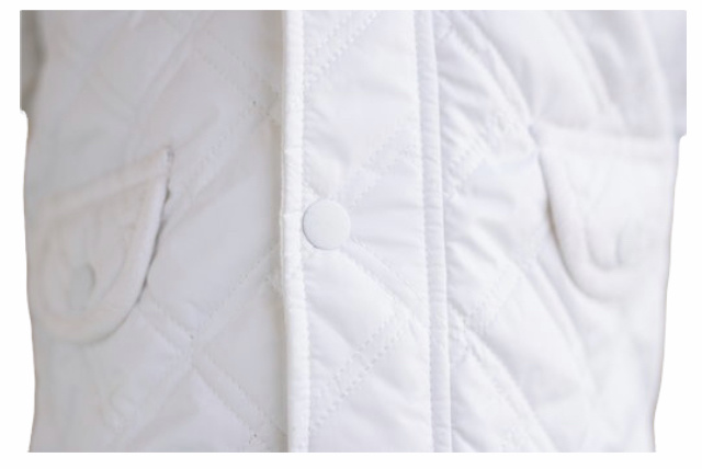 Little Lads Little Lads White Quilted Jacket