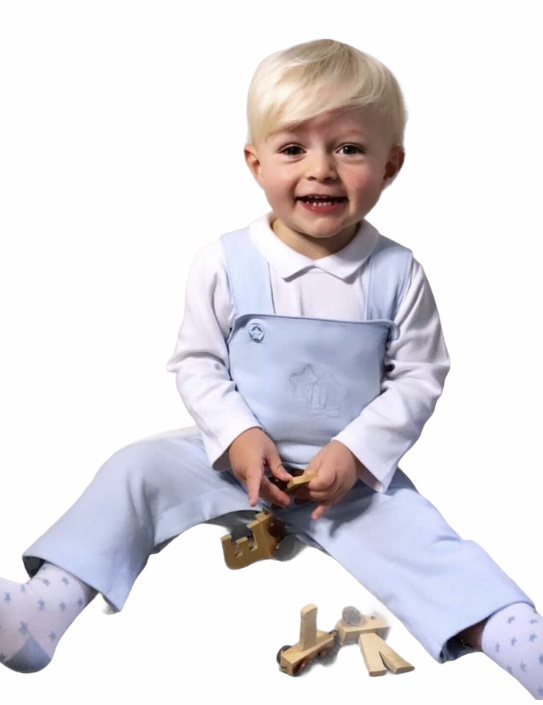 Little Lads & Ladies Blue Dungaree Body LL05