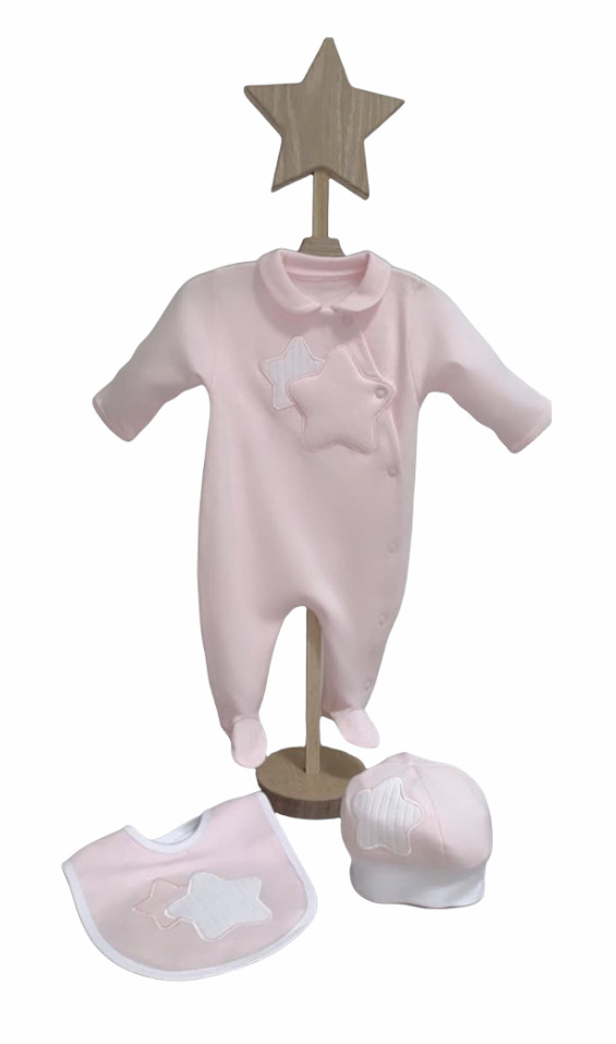 Little Lads & Ladies Double Star Pale Pink LL01