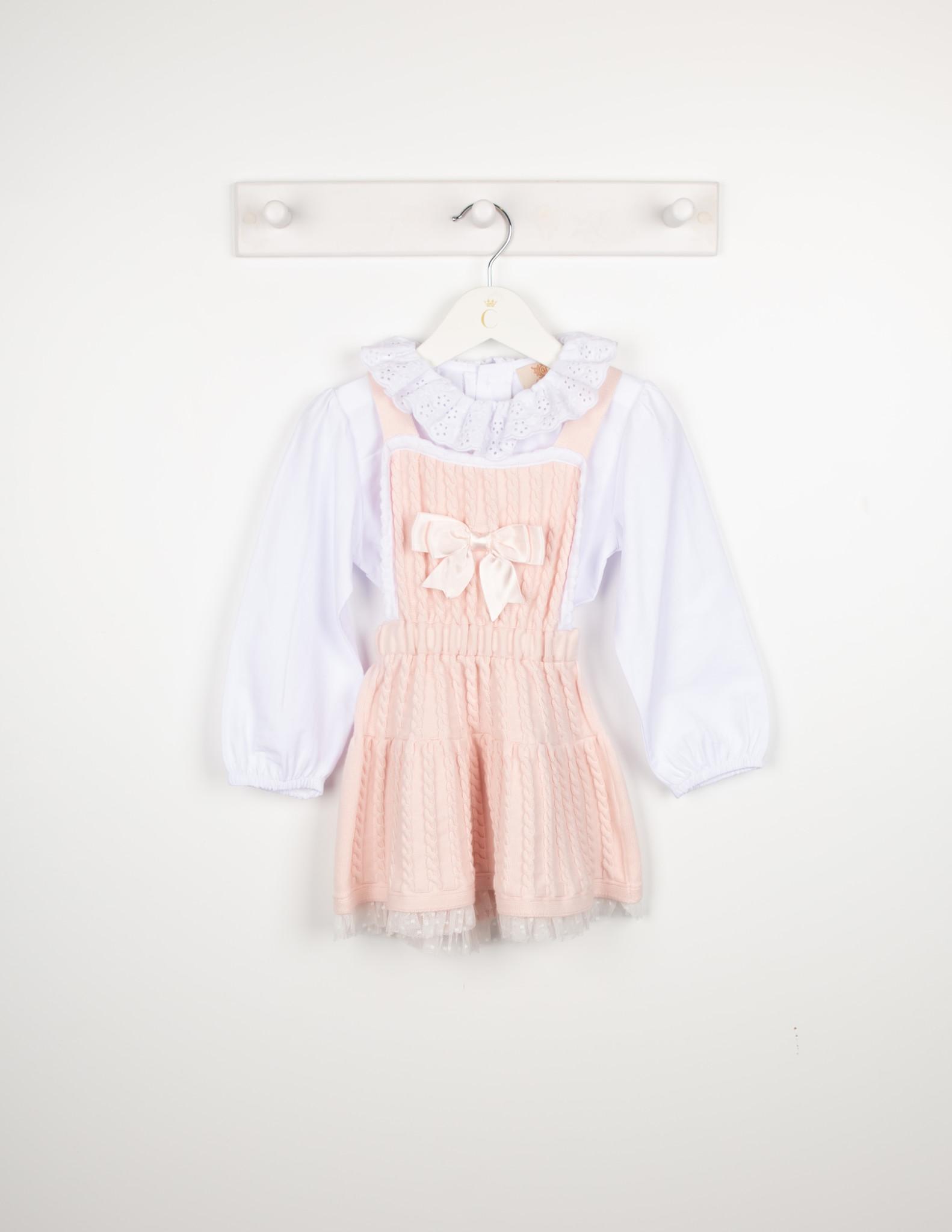 Caramelo Caramelo Pink Pinafore Dress - 201571 AW21