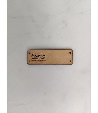 3DPLab Bobbiny - Leren label - handgemaakt met liefde