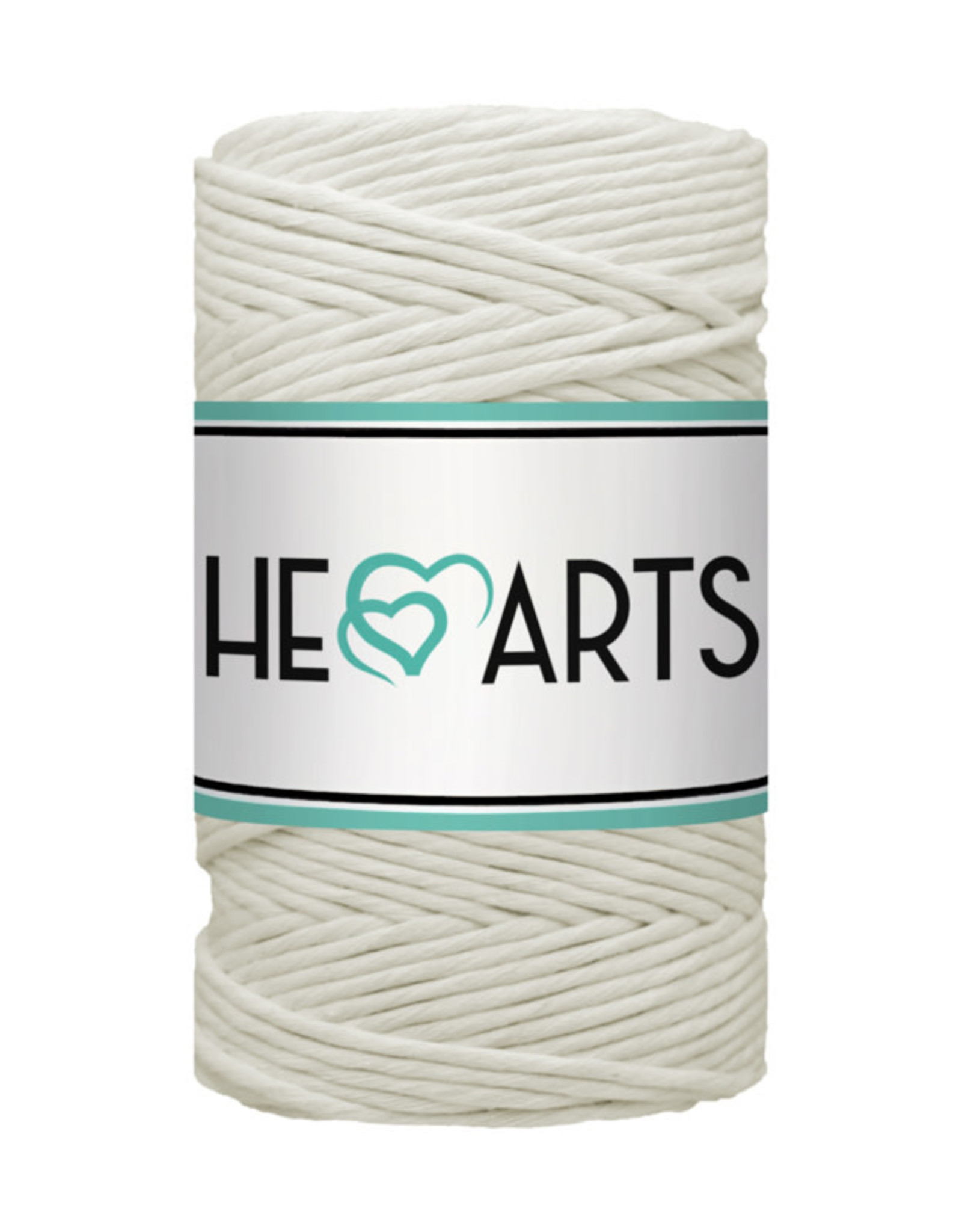HEARTS HEARTS - Macramé koord single twist - Naturel 3mm