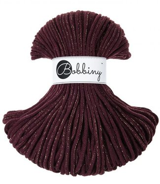 Bobbiny Bobbiny - Junior 3MM Maroon Golden