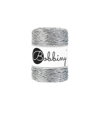 Bobbiny Bobbiny - Macramé 3MM Silver 50m