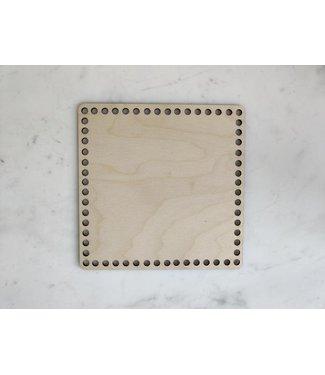 Bobbiny Bobbiny - houten bodem vierkant 25 x25 cm