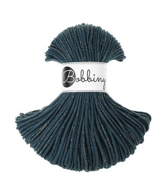 Bobbiny Bobbiny - Junior 3MM Peacock Blue Golden