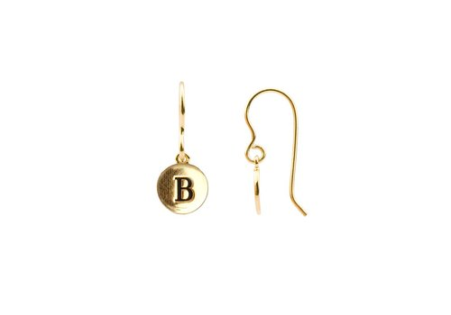 All the Luck in the World Oorbel letter B 18K goud