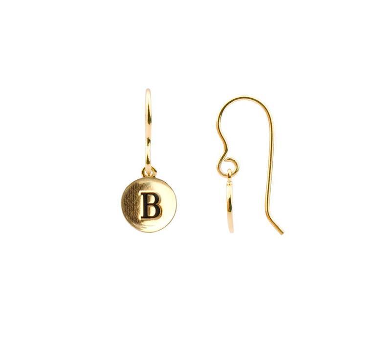 Oorbel letter B 18K goud