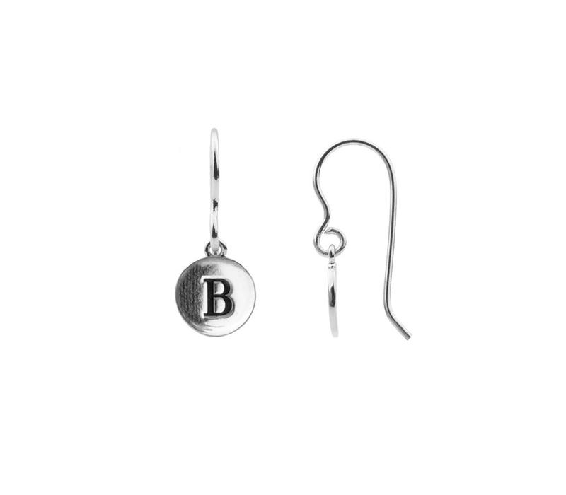 Earring letter B plated