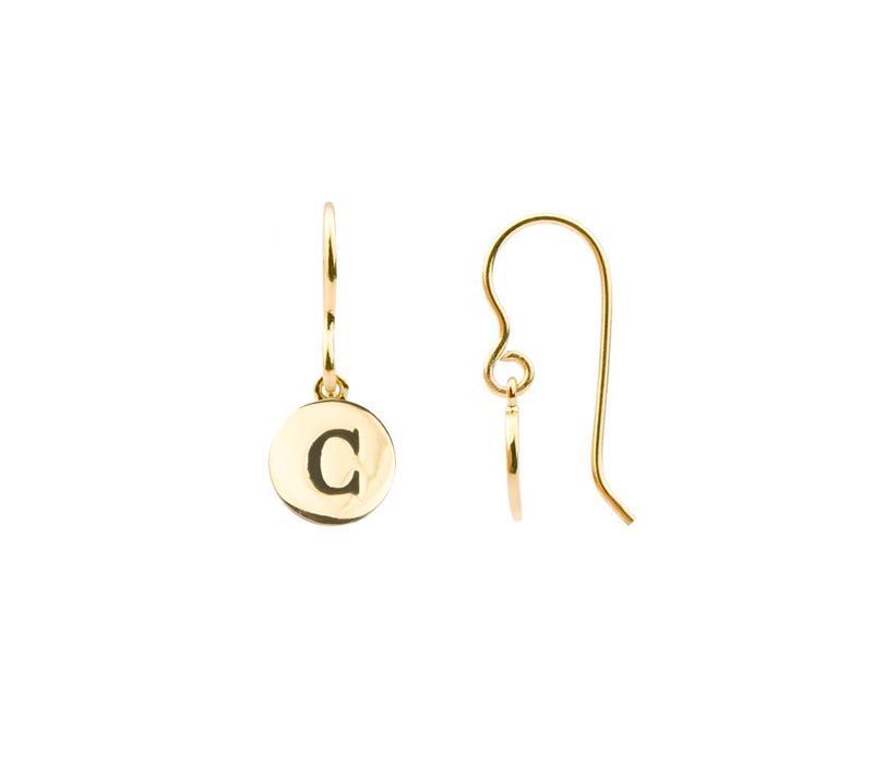 Oorbel letter C goud