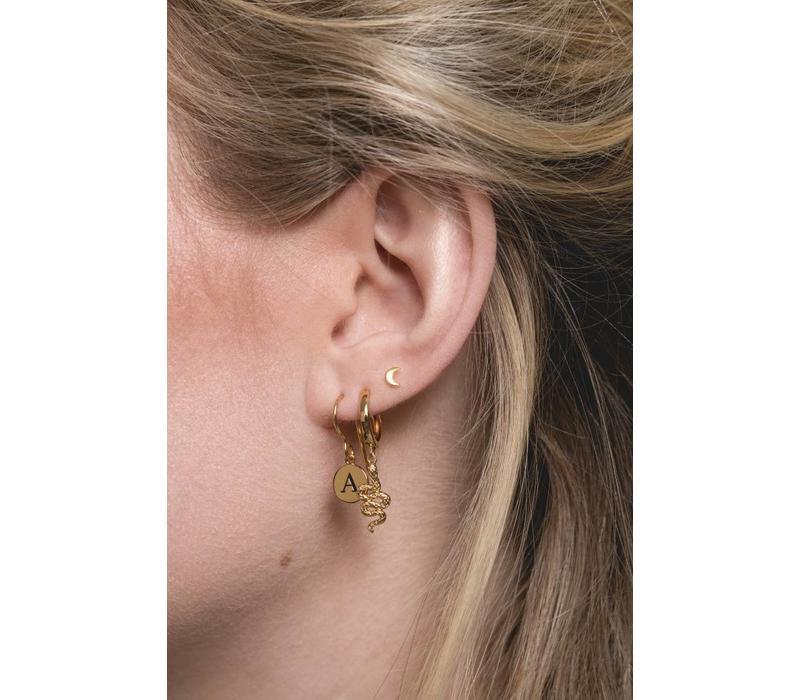 Earring letter C 18K gold
